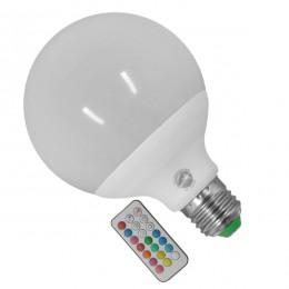 Λάμπα LED E27 G95 Γλόμπος 18W 230V 1170lm 260° με Ασύρματο Χειριστήριο RGB & Θερμό Λευκό 3000k GloboStar 88970