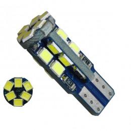 Λαμπτήρας LED T10 12v Can Bus με 22 SMD 2835 Ψυχρό Λευκό 6000k GloboStar 04491