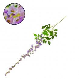 Τεχνητό Κρεμαστό Φυτό Διακοσμητική Γιρλάντα Μήκους 1.1 μέτρων με 3 X Κλαδιά Βιστέρια Λιλά GloboStar 09030