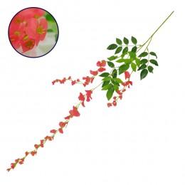 Τεχνητό Κρεμαστό Φυτό Διακοσμητική Γιρλάντα Μήκους 1.1 μέτρων με 3 X Κλαδιά Βιστέρια Κοραλί GloboStar 09033