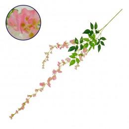 Τεχνητό Κρεμαστό Φυτό Διακοσμητική Γιρλάντα Μήκους 1.1 μέτρων με 3 X Κλαδιά Βιστέρια Ροζ GloboStar 09034