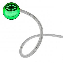 Φωτοσωλήνας LED Διάφανος 1m 4.8W/m 230V 36 LED/m Δίοδος 12mm 250lm/m Αδιάβροχος IP68 Πράσινο Dimmable GloboStar 22516