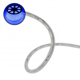 Φωτοσωλήνας LED Διάφανος 1m 4.8W/m 230V 36 LED/m Δίοδος 12mm 250lm/m Αδιάβροχος IP68 Μπλε Dimmable GloboStar 22517