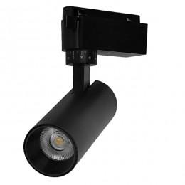 Μονοφασικό Bridgelux COB LED Μάυρο Φωτιστικό Σποτ Ράγας 10W 230V 1200lm 30° Θερμό Λευκό 3000k GloboStar 93093