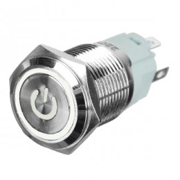 Διακοπτάκι LED PUSH ON 230 Volt 4 Ampere Λευκό GloboStar 05063