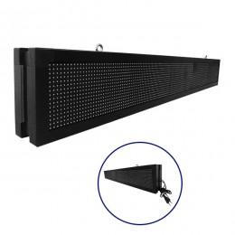 Αδιάβροχη Κυλιόμενη Επιγραφή LED 230V USB & WiFi Πορτοκαλί Διπλής Όψης 168x20cm GloboStar 90156