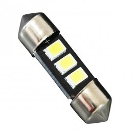 Σωληνωτός LED 36mm με 3 SMD 5630 Samsung Chip Λευκό 6000k GloboStar 81302