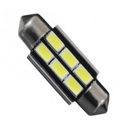 Σωληνωτός LED 42mm Can Bus με 6 SMD 5630 Ψυχρό Λευκό GloboStar 81322