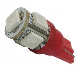 Λαμπτήρας LED T10 με 5 SMD 5050 Κόκκινο GloboStar 81051
