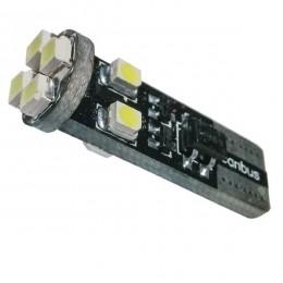 Λαμπτήρας LED T10 Can Bus με 8 SMD 1210 Ψυχρό Λευκό GloboStar 81119