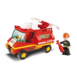 SLUBAN Τουβλάκια Town, Fire Truck M38-B0173, 74τμχ