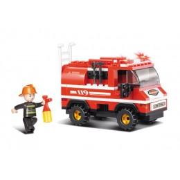 SLUBAN Τουβλάκια Fire, Fire Truck M38-B0276, 133τμχ