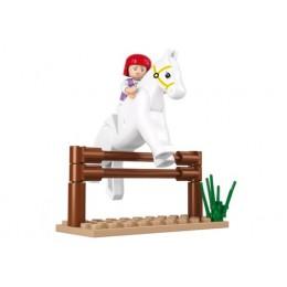 SLUBAN Τουβλάκια Girls Dream, Jumping Horse M38-B0517, 20τμχ