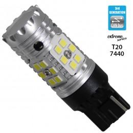 Λαμπτήρας LED Extreme Series Can-Bus 3ης Γενιάς με βάση T20 7440 15W 12v Ψυχρό Λευκό 6000k GloboStar 81149
