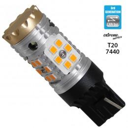 Λαμπτήρας LED Extreme Series Can-Bus 3ης Γενιάς με βάση T20 7440 24W 12v Πορτοκαλί για Φλας GloboStar 81150