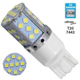 Λαμπτήρας LED Extreme Series Can-Bus 2ης Γενιάς με βάση T20 7443 15W 12v Ψυχρό Λευκό 6000k GloboStar 81155