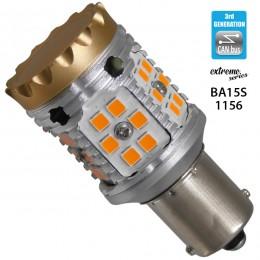 Λαμπτήρας LED Extreme Series Can-Bus 3ης Γενιάς με βάση 1156 28W 12v Πορτοκαλί για Φλας GloboStar 81233