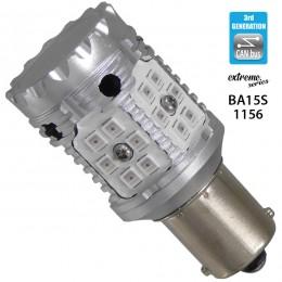 Λαμπτήρας LED Extreme Series Can-Bus 3ης Γενιάς με βάση 1156 15W 12v Κόκκινος για Στοπ GloboStar 81234