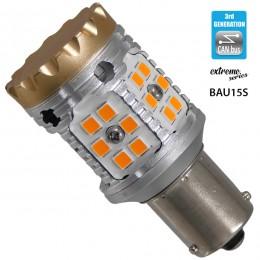 Λαμπτήρας LED Extreme Series Can-Bus 3ης Γενιάς με βάση BAU15S PY21W 28W 12v Πορτοκαλί για Φλας GloboStar 81235
