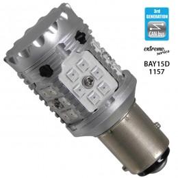 Λαμπτήρας LED Extreme Series Can-Bus 3ης Γενιάς με βάση 1157 15W 12v Κόκκινος για Πορείας Στοπ GloboStar 81237