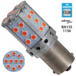 Λαμπτήρας LED Extreme Series Can-Bus 2ης Γενιάς με βάση 1156 22W 12v Κόκκινος για Στοπ GloboStar 81240
