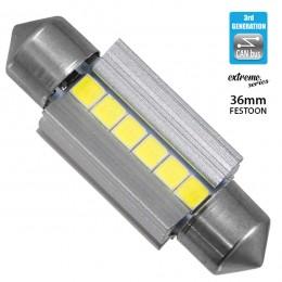 Σωληνωτός LED Extreme Series Can-Bus 3ης Γενιάς 36mm 3.6w 12V Ψυχρό Λευκό 6000k GloboStar 81338