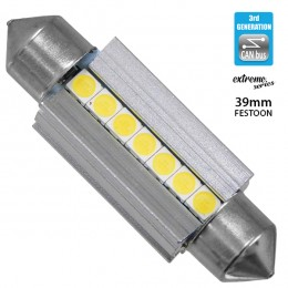 Σωληνωτός LED Extreme Series Can-Bus 3ης Γενιάς 39mm 3.8w 12V Ψυχρό Λευκό 6000k GloboStar 81339