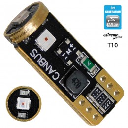 Λαμπτήρας LED T10 Extreme Series Can-Bus 3ης Γενιάς 3w 12V Κόκκινο GloboStar 81116