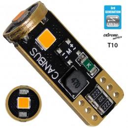Λαμπτήρας LED T10 Extreme Series Can-Bus 3ης Γενιάς 3w 12v Πορτοκαλί GloboStar 81117