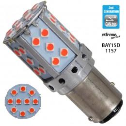 Λαμπτήρας LED Extreme Series Can-Bus 2ης Γενιάς με βάση 1157 18W 12v Κόκκινος για Πορείας Στοπ GloboStar 81243