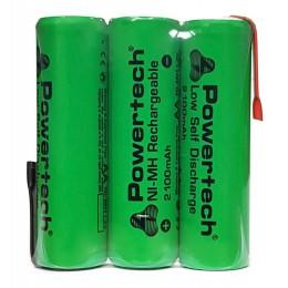 POWERTECH επαναφορτιζόμενη μπαταρία PT-793 2100mAh, AΑ (HR6), 3τμχ