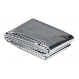 Θερμική κουβέρτα εκτάκτου ανάγκης AG404, 130 x 210cm, ασημί