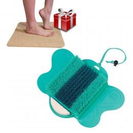 Starlyf Foot Spa Βούρτσα Καθαρισμού, Περιποίησης Και Μασάζ Ποδιών με Αντιολισθητικό Χαλάκι Μπάνιου