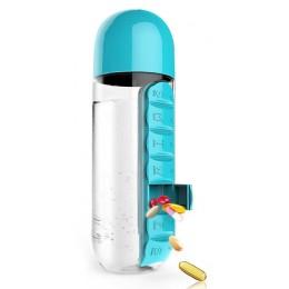 Παγούρι νερού TMV-0036 με ενσωματωμένη θήκη για χάπια, 600ml, μπλε