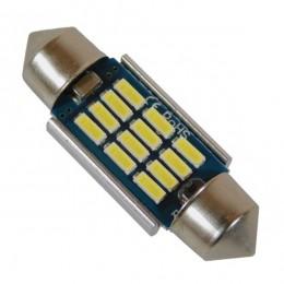Σωληνωτός LED 36mm Can Bus με 12 SMD 4014 Samsung Chip 24 Volt Ψυχρό Λευκό GloboStar 50176