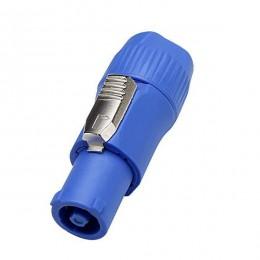 Αρσενικό Βύσμα SPEAKON IN Male 2 Pin High Quality Μπλε GloboStar 51190