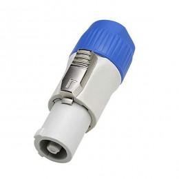 Αρσενικό Βύσμα SPEAKON OUT Male 2 Pin High Quality Γκρί GloboStar 51191