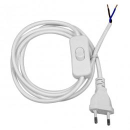 Κρεμαστό Φωτιστικό Whip με Λευκό Διακόπτη - Λευκή Πρίζα και Λευκό Καλώδιο 1.4m GloboStar 91038