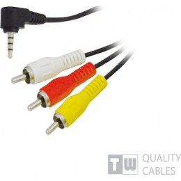 TrustWire Cable 3.5mm male - Analog Audio male / Composite male 1.5m (11917)