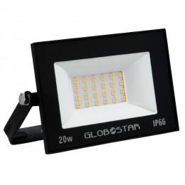 Προβολέας LED OSIRIS 20W 100LM/W 2000LM 120° Μοίρες AC85-265V 2 YEARS WARRANTY Αδιάβροχος IP66 Θερμό Λευκό 3000k GloboStar 12319