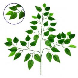 Τεχνητό Φυτό Διακοσμητικό Κλαδί Διαστάσεων M21cm x Υ27cm με 3 X Πράσινα Κλαδιά και Φύλλωμα Μπέντζαμιν GloboStar 09052