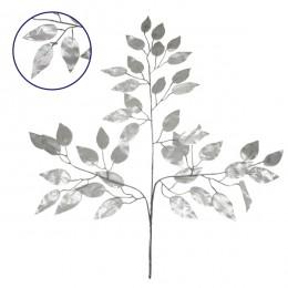 Τεχνητό Φυτό Διακοσμητικό Κλαδί Διαστάσεων M21cm x Υ27cm με 3 X Ασημί Κλαδιά και Φύλλωμα Φύκος GloboStar 09054