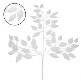Τεχνητό Φυτό Διακοσμητικό Κλαδί Διαστάσεων M21cm x Υ27cm με 3 X Λευκά Κλαδιά και Φύλλωμα Φύκος GloboStar 09055