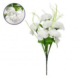 Τεχνητό Φυτό Διακοσμητικό Μπουκέτο Λευκό M20cm x Υ35cm Π20cm με 7 X Γαρύφαλλα GloboStar 09074
