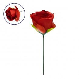 Τεχνητό Φυτό Διακοσμητικό Τριαντάφυλλο Κόκκινο M8cm x Υ20cm Π8cm GloboStar 09076