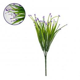 Τεχνητό Φυτό Διακοσμητικό Μπουκέτο Aphyllanthes Μώβ M17cm x Υ30cm Π17cm με 7 Κλαδάκια GloboStar 09079