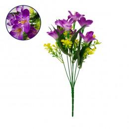 Τεχνητό Φυτό Διακοσμητικό Μπουκέτο Rain Lily Μωβ M15cm x Υ33cm Π15cm με 7 Κλαδάκια GloboStar 09084