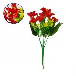 Τεχνητό Φυτό Διακοσμητικό Μπουκέτο Rain Lily Κόκκινο M15cm x Υ33cm Π15cm με 7 Κλαδάκια GloboStar 09085