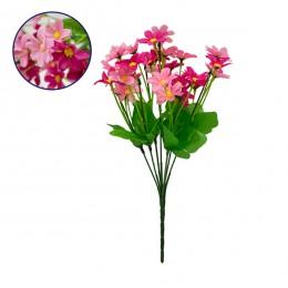 Τεχνητό Φυτό Διακοσμητικό Μπουκέτο Garden Cosmos Ροζ - Φούξια M20cm x Υ35cm Π20cm με 7 Κλαδάκια GloboStar 09086