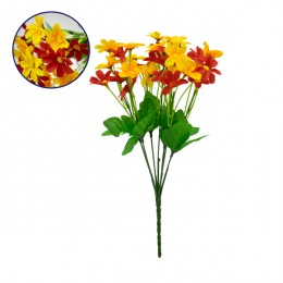 Τεχνητό Φυτό Διακοσμητικό Μπουκέτο Garden Cosmos Κόκκινο - Κίτρινο M20cm x Υ35cm Π20cm με 7 Κλαδάκια GloboStar 09087